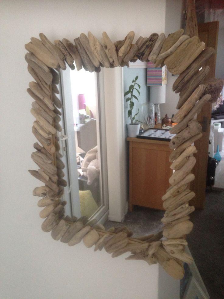Handmade driftwood mirror £24