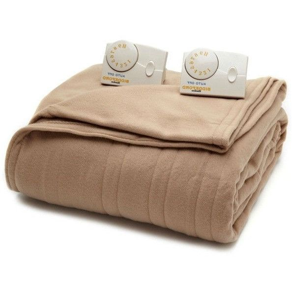 Full size Fawn Brown Electric Heated Blanket with 10-Hour Auto Shut Off