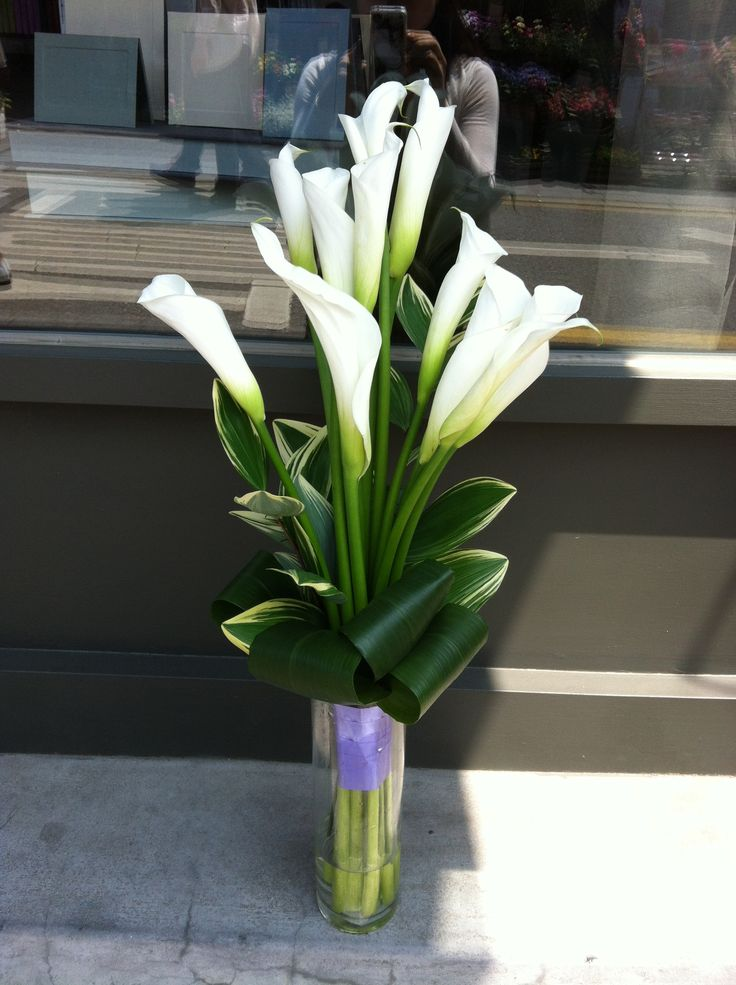 Calla lily bouquet / gift flower / handtied / white bouquet By Hyunmi Choi
