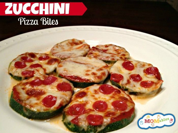 Zucchini pizza bites - low carb gluten free via MOMables.com