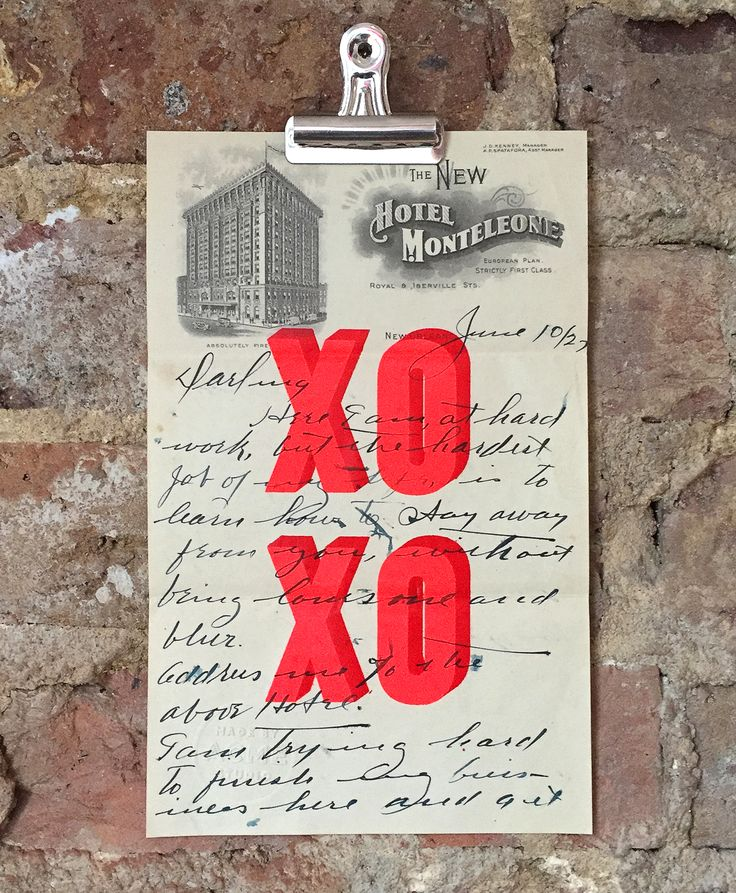 'XOXO Love Letter' the limited edition artwork by artist Dave Buonaguidi. Available to buy online at Nelly Duff.
