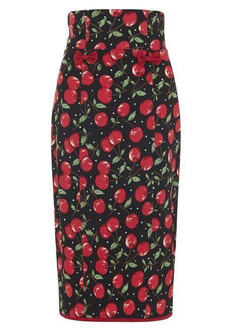 Vanya Cherry Polka Dot pencil skirt  http://www.misswindyshop.com/fi/shop/vaatteet/hameet+housut/vanya+cherry+polka+dot+kynahame