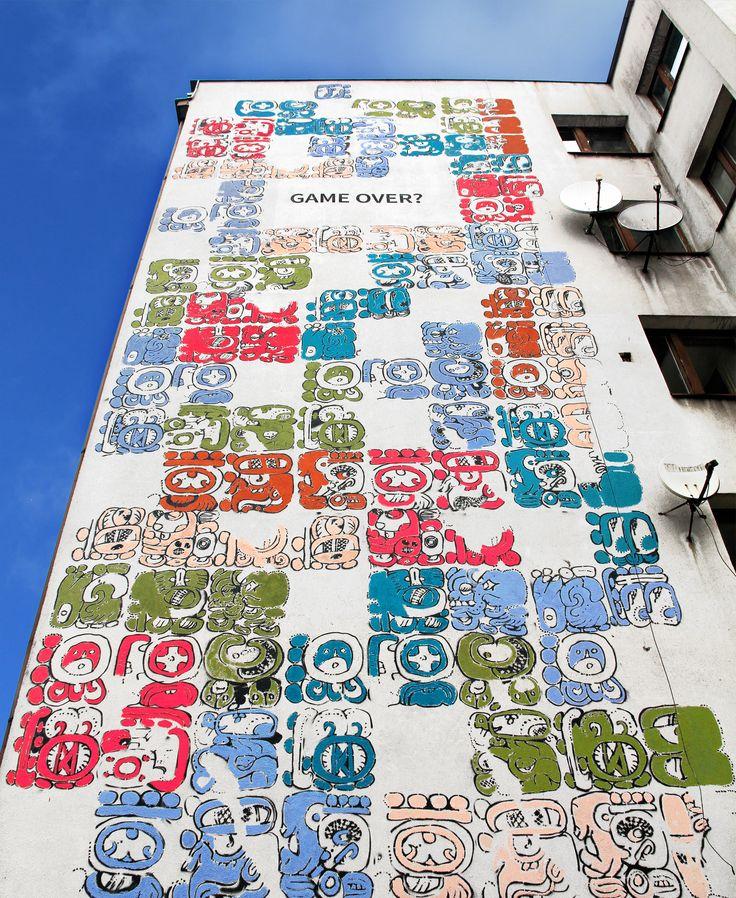 #mayamural #mural #streetart #cracow #aleksandratoborowicz #michalpalasz projekt: Aleksandra Toborowicz 2012