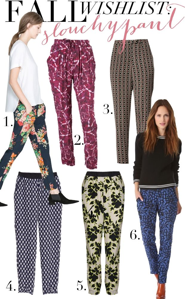 loving slouchy pants for fall.