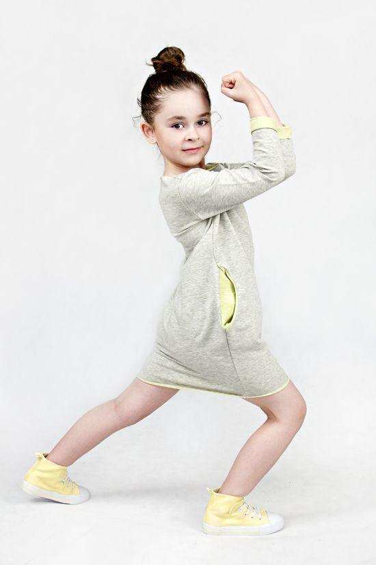 Girl Sweatshirt Tunic with Limo www.thesame.eu