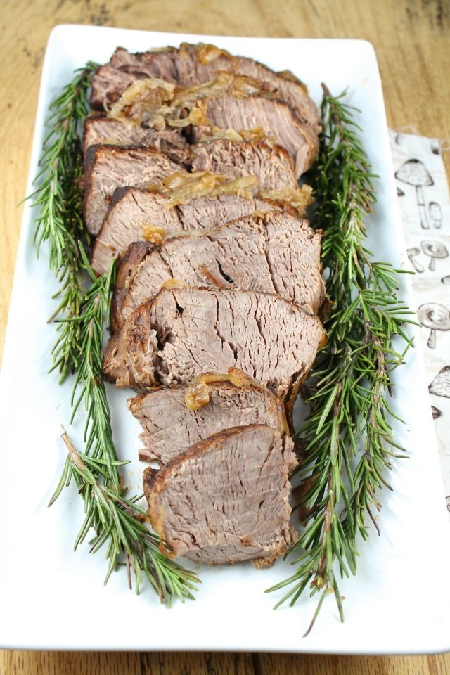 Crock Pot Roast with Caramelized Onions Recipe from Miss in the Kitchen
