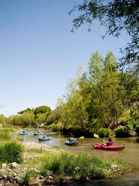 Kayaking down the Verde River near Camp Verde, Arizona.  THIS IS SOOOOOO MUCH FUN!