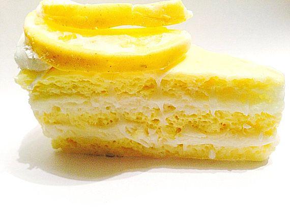 Lemon Soap Handmade Soap Shea Butter Soap Novelty Gift Yellow