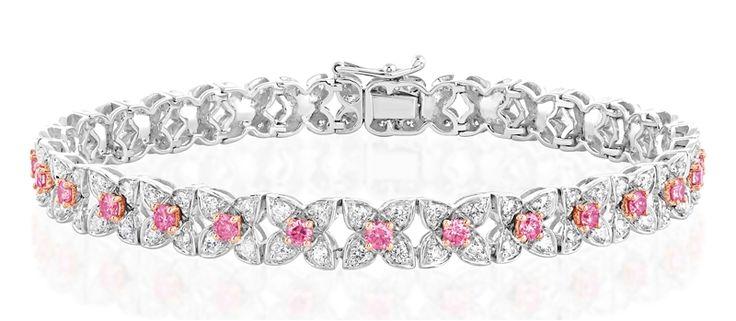 Kama Schachter Florence pink diamond bracelet