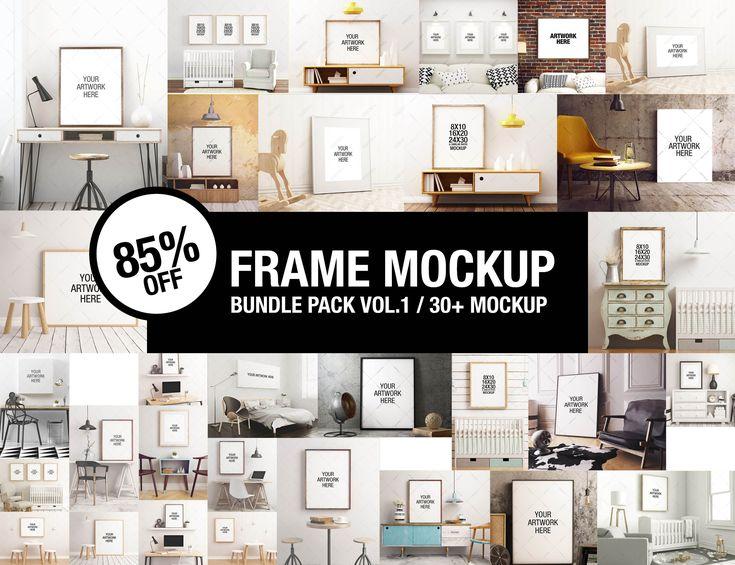 Frame Mockup Bundle / Frame Mockup Nursery / Frame Mockup / poster frame / canvas mockup / poster mockup / photo frame / floating shelves by Positvtplus on Etsy