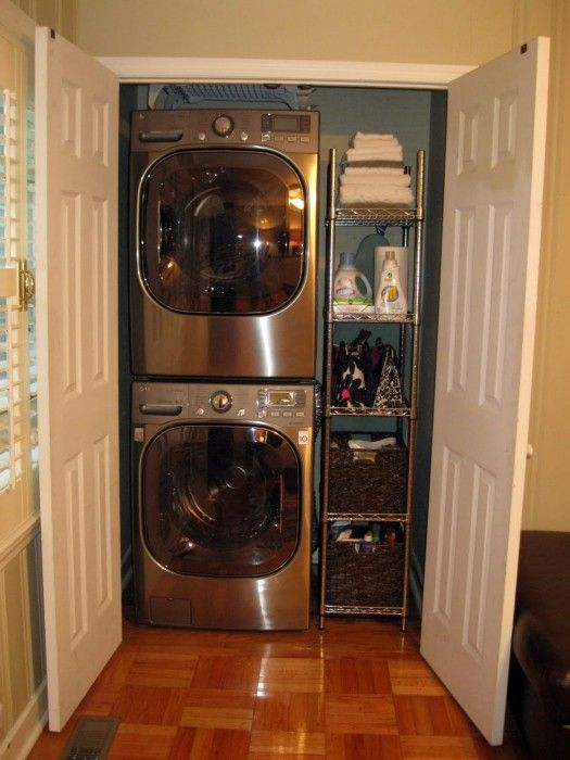 17 best images about laundry room on pinterest washers gloves and laundry hamper - Washer dryers for small spaces ideas ...