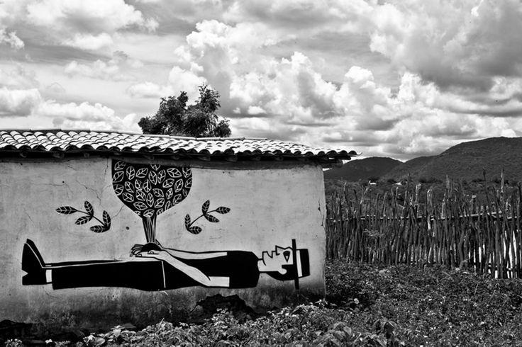 Exposição Ouro Branco  A exposição Ouro Branco é o resultado de uma residência do artista Derlon em uma comunidade rural do sertão do Ceará.