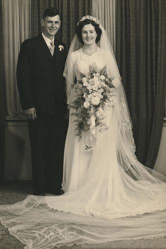 Graham & Pam wedding 1950