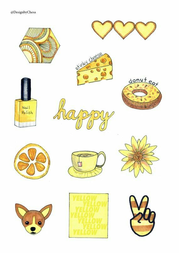 Pin By Tracy On Yellow With Images Aesthetic Stickers Iphone