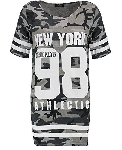 Blue Inc Woman Ladies Grey NY Athletic Slogan Camo Short Sleeve T-Shirt X-Small      womens camouflage clothing,  womens camo shirt,  ladies camouflage clothing,  women camo shirts,  camo clothes for women,  camo clothing for women,  camouflage clothing for women,  sexy camo clothing,  women pink camo clothing,  ladies camo clothing,  discount camo clothing,  women camo clothes,  womens camo sweatshirt,  pink camouflage clothing,  womens camo shorts,  women long sleeve camo shirts,