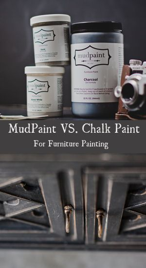Mudpaint VS Chalk Paint for furniture painting