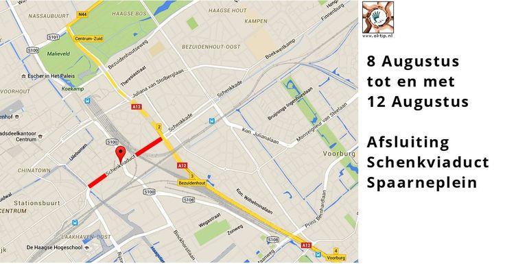 8 / 12 Aug – Afsluiting   Schenkviaduct / Spaarneplein - http://www.oktip.nl/8-12-aug-afsluiting-schenkviaduct-spaarneplein/