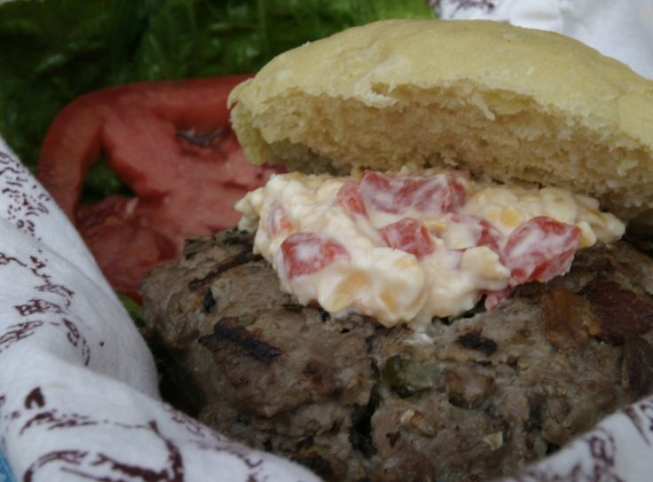 Bacon Jalapeno Burger with Pimento Cheese from Food Done Light