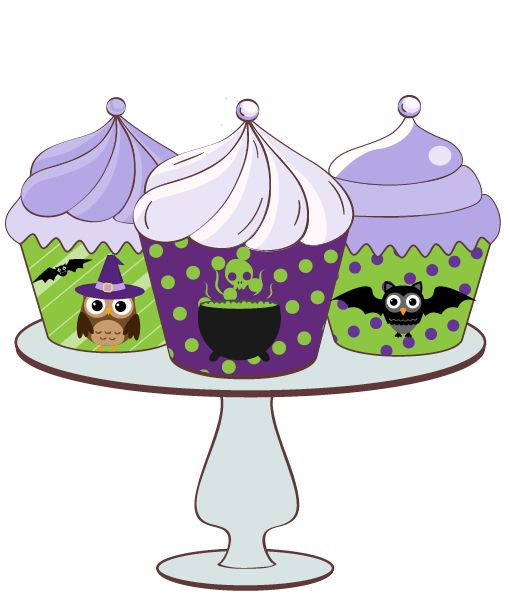 Free Halloween cupcake wrappers