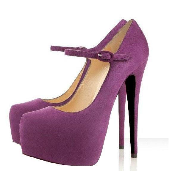 Туфли на каблуке фиолетовые