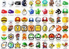 Retro arcade symbols
