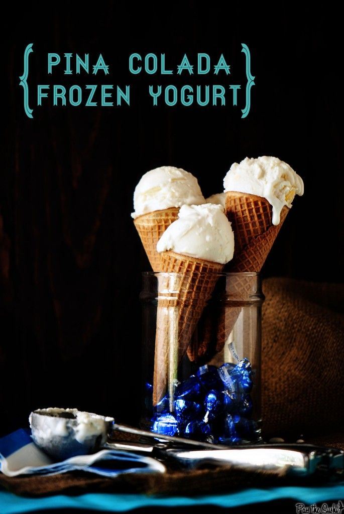 An absolute must for pineapple and coconut fans: Pina colada frozen yogurt. #food #pina_colada #frozen_yogurt