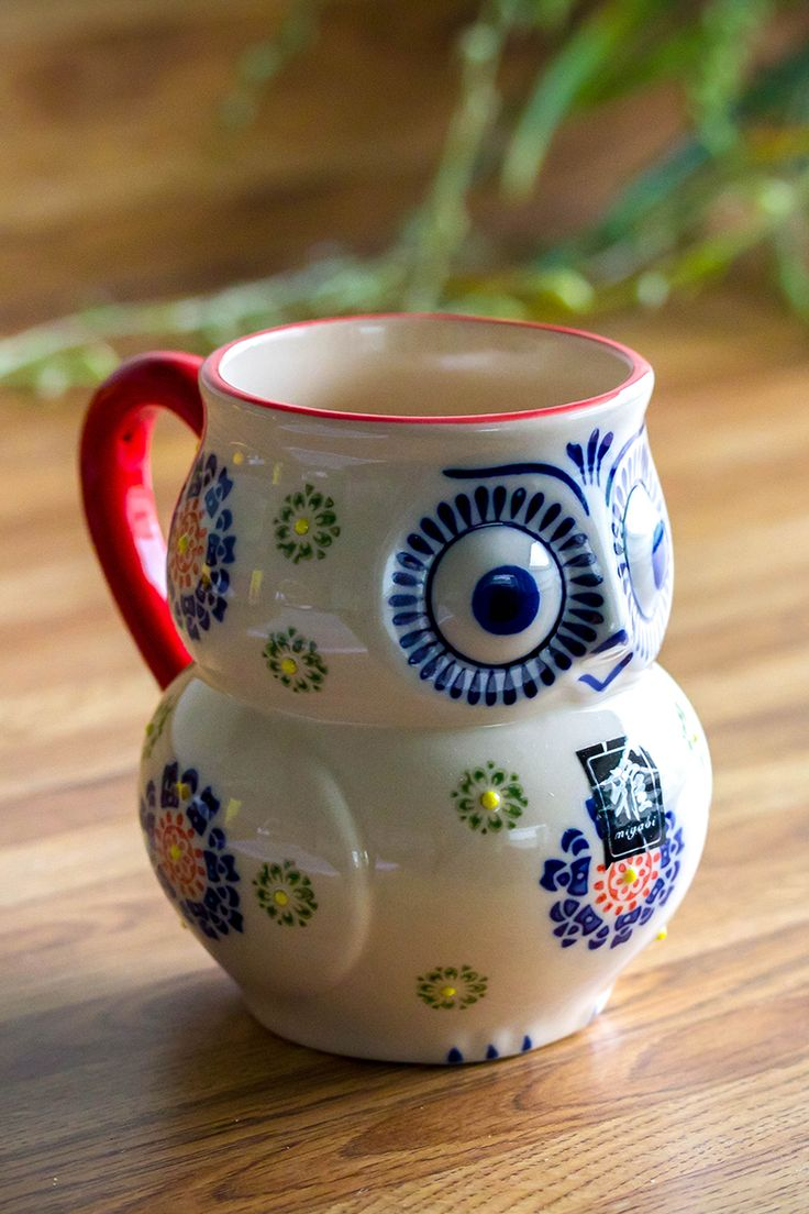 Brighten up your routine with this cheery owl! Our ceramic mug has a folk-art look, adding a delightful note to your favorite beverage. For every Owl Beauty Grande Mug purchased, an extra $5 will be donated to help protect the Jaguar Mountains of Mexico!