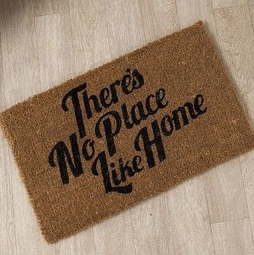 Theres No Place Like Home Doormat contemporary doormats