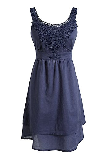 Blue Boho Dress... this needs some adorable patterned shoes to accompany it :)