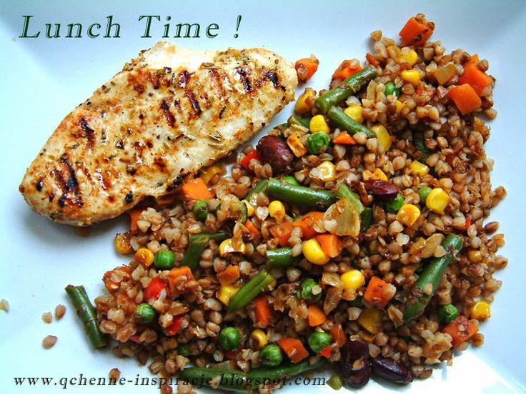 Qchenne-Inspiracje! Odchudzanie, dietoterapia, leczenie dietą: Pełnowartościowy lunch do zabrania do pracy. Jak przygotować go rano w 10-15 minut ?