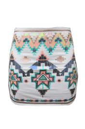 Aztec rokje wit #aztec #rokje #glitter #glamour #modekoffer