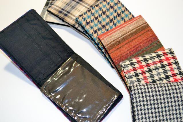Handmade Wool Bi-fold Wallets