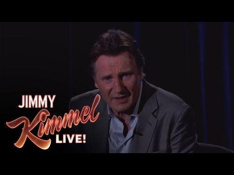 Liam Neeson Threatens a Fan on Jimmy Kimmel Live - YouTube