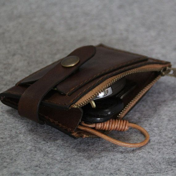 Genuine Leather car keys wallet Men key by FocusmanLeather