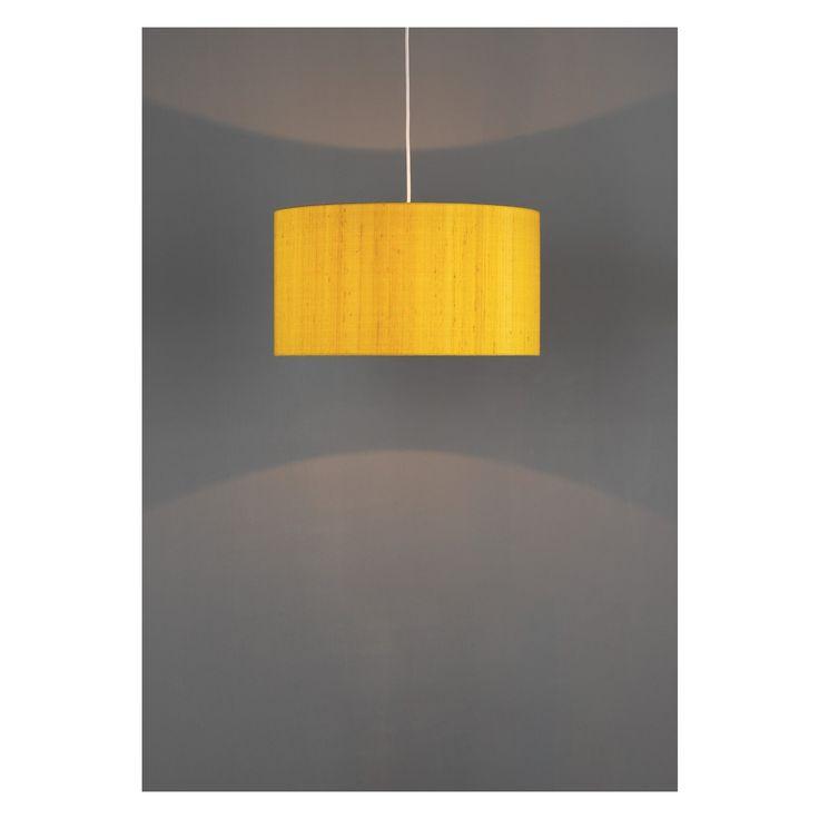 DRUM SILK Drum silk saffron large lamp shade D49 x H24cm | Buy now at Habitat UK