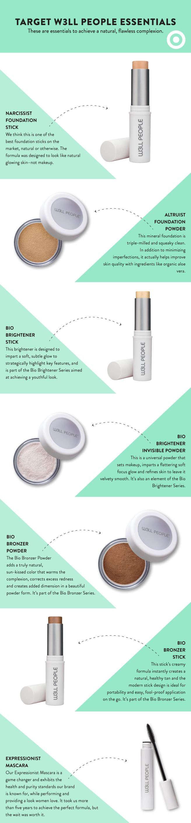 Target is partnering with natural, organic makeup brand, @w3llpeople, to bring you the essentials to achieve a flawless complexion. Shop the collection at Target.com only.