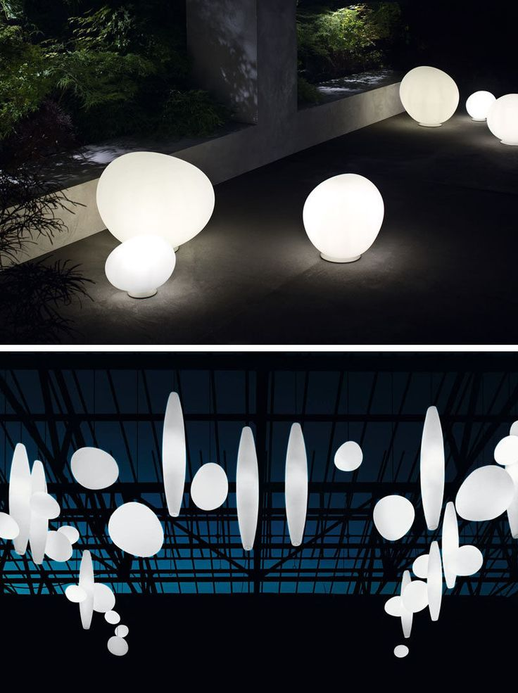 8 Outdoor Lighting Ideas To Inspire Your Spring Backyard Makeover / Create an ethereal look by using spheres and orbs throughout your backyard, garden, or on your patio. You can hang them individually or cluster them in groups on the ground to set a mystical vibe and create a perfect little oasis.
