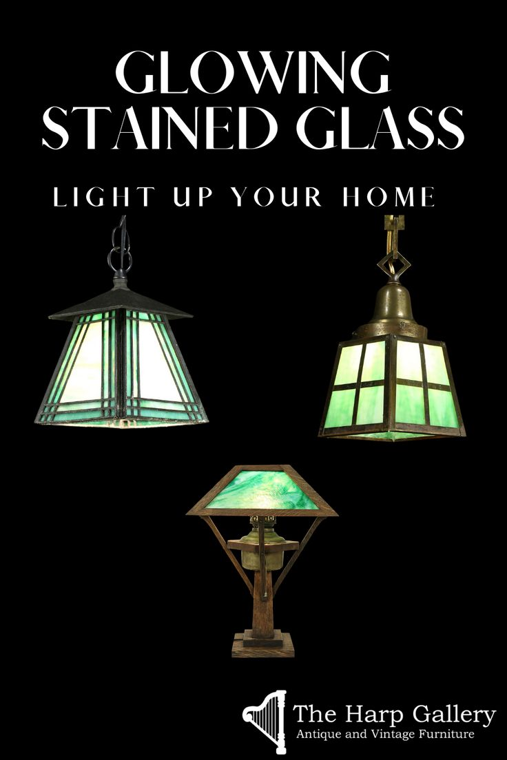 Antique Vintage Lighting The Harp Gallery Stained Glass Lamp Shades Vintage Lighting Gallery Lighting