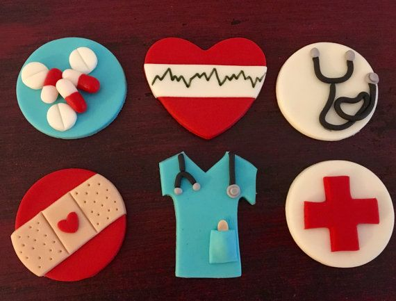 You will love these adorable medical themed cupcake toppers! Perfect for a birthday, graduation, promotion event, etc! Nursing, doctors, or just for fun! These are a perfect size topper for your standard cupcake. Each fondant topper is made from fresh fondant at the time order is placed. You wont find anything like these in the grocery store aisles.  This listing is for a set of 12 medical themed cupcake toppers.  Fondant cupcake toppers will stay fresh for up to one year, when stored in an…