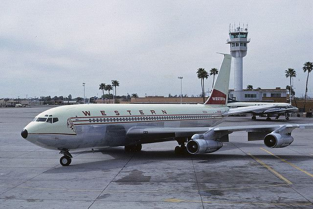 Western Airlines Boeing 720 at Phoenix, March 1965 | Flickr - Photo Sharing!