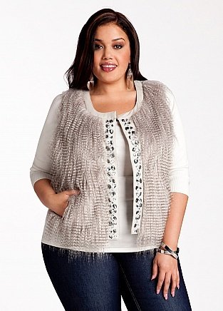 plus size sweater vests…