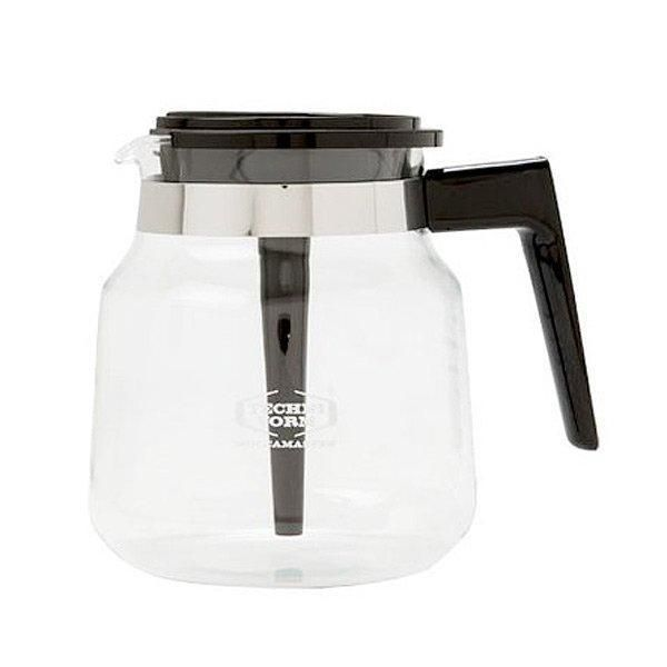 Replacement glass carafe for Moccamaster Classic complete with mixing lid.