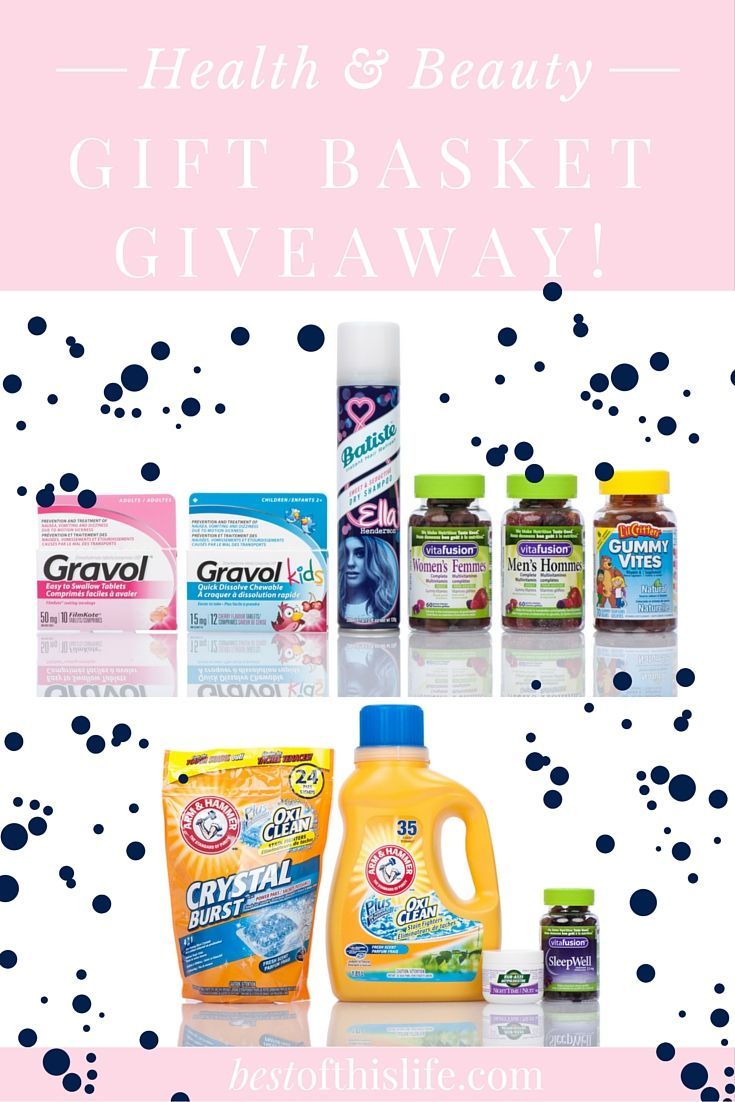 Enter to win a Health & Beauty Gift Basket full of favourite household products (ARV $80) Canadians only.