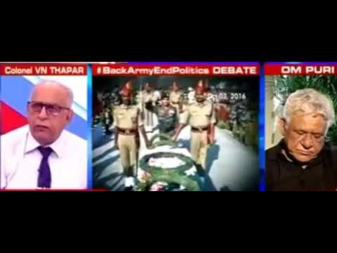 Arnab Goswami  RIPS OFF  Om Puri for Insulting Indian Army !! Must Must ...