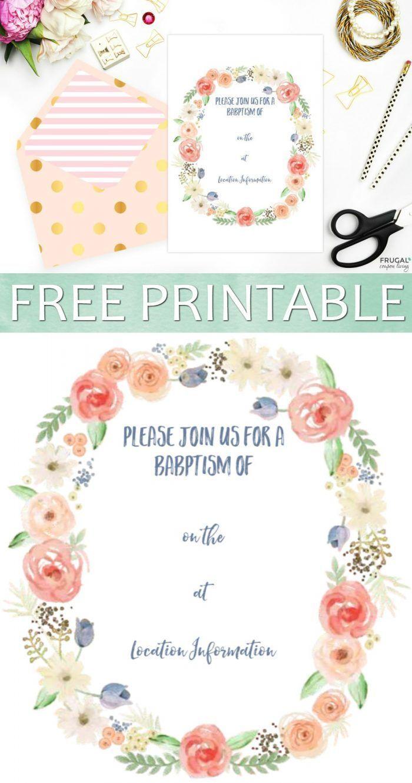 Design Christening Invitations Free