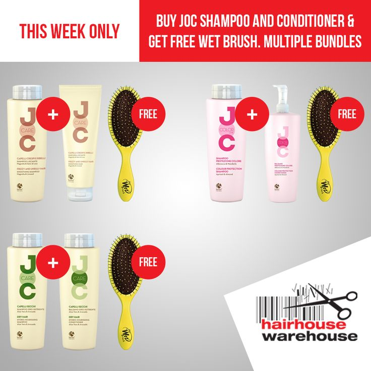 HOT DEAL! Get a FREE WetBrush when you buy Buy JOC Shampoo & Conditioner (4 bundles to choose from). THIS WEEK ONLY! https://www.hairhousewarehouse.co.za/hot-deals?utm_source=Facebook&utm_medium=Social_CPC&utm_campaign=product&utm_content=Weekly-Deals