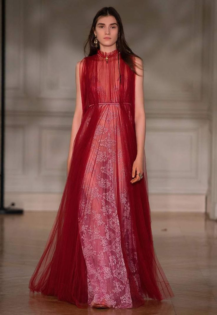 Valentino AW 2017/2018 - Red tulle gown