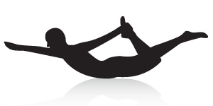 Half Bow to Full Yoga Pose - Keeps spine supple, tones the core, massages the back muscles,  stimulates endocrine, respiratory, reproductive, and circulatory systems...