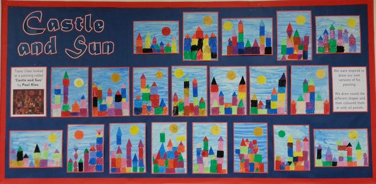 Art inspired by Paul Klee's 'Castle and the Sun'