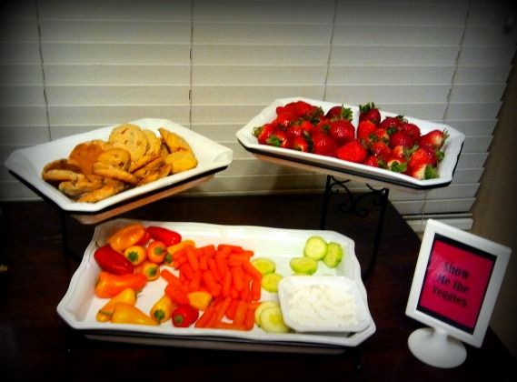 Show Me the Veggies...Poker Party Food